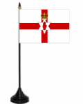 Northern Ireland Desk / Table Flag with plastic stand and base.
